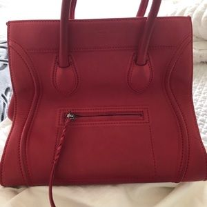 Red Céline Phantom Medium Bag
